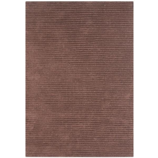 Alliyah Hand-loomed Brown Sugar New Zealand Wool Rug (5' x 8') - 5' x 8'