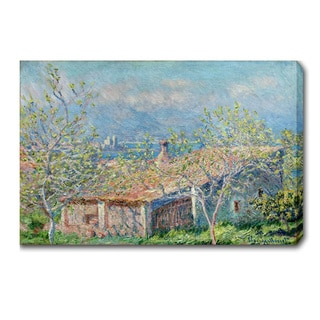 Claude Monet 'Gardener's House at Antibes' Oil on Canvas Art