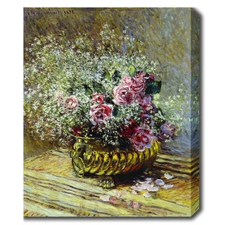 Claude Monet 'Flowers in a Pot' Oil on Canvas Art