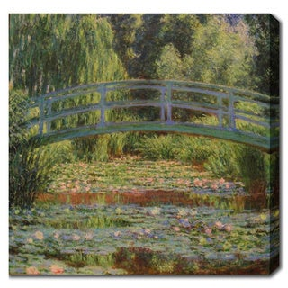 Claude Monet 'The Japanese Footbridge and the Water Lily Pond at Giverny' Oil on Canvas Art