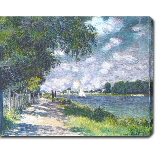 Claude Monet 'The Seine at Argenteuil' Oil on Canvas Art