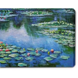 Claude Monet 'Water Lilies' Oil on Canvas Art