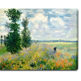 Claude Monet 'Poppy Field at Argenteuil' Oil on Canvas Art