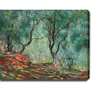 Claude Monet 'Olive Tree Wood in the Moreno Garden' Oil on Canvas Art - Multi