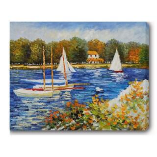 Claude Monet 'Le bassin d'Argenteuil' Oil on Canvas Art