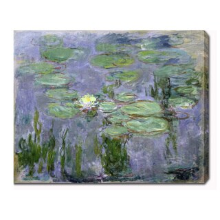 Claude Monet 'Water Lilies' Oil on Canvas Art|https://ak1.ostkcdn.com/images/products/9357506/P16550011.jpg?_ostk_perf_=percv&impolicy=medium