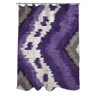 Tribal Ikat Plum Shower Curtain