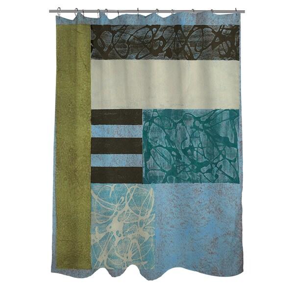 Thumbprintz Seafoam Shower Curtain