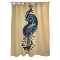 Shop Peacock Shower Curtain By Bacova