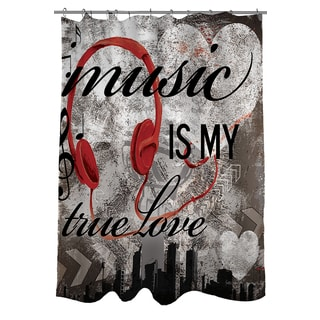 Music Is My True Love Shower Curtain
