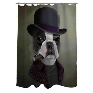 BT Bowler Hat Shower Curtain