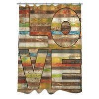 Striped Love Shower Curtain