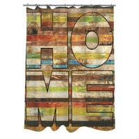 Striped Home Shower Curtain