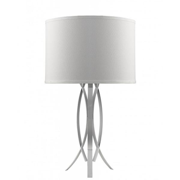 Chloe Contemporary 1-light Nickel Table Lamp