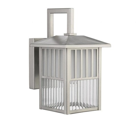 Chloe Transitional 1-light Brushed Nickel Outdoor Wall Fixture