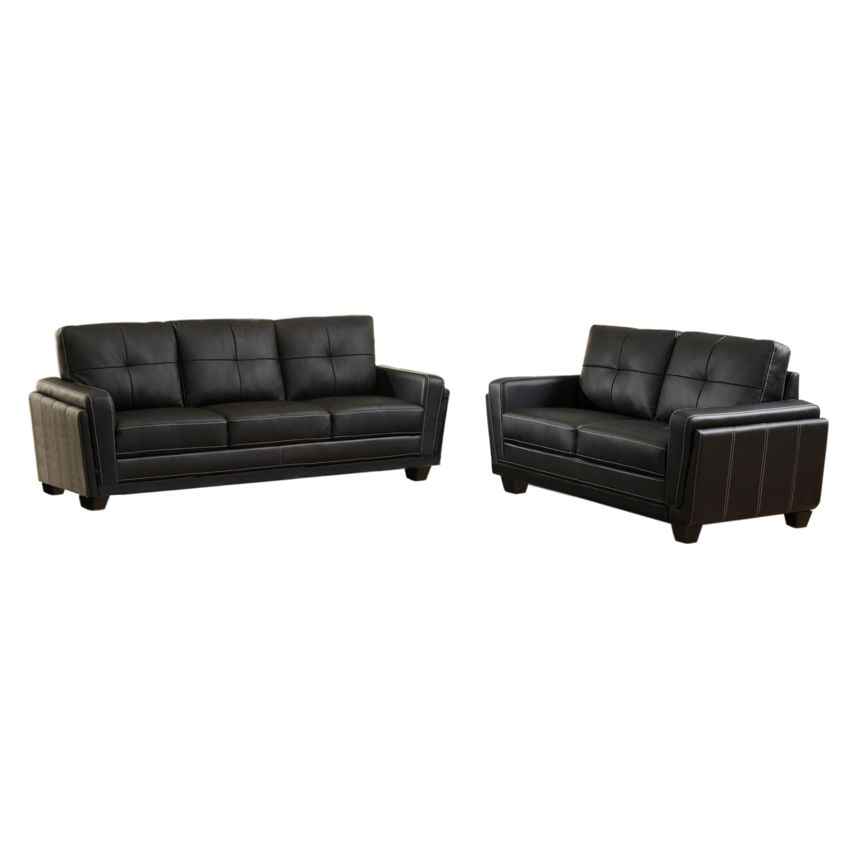 Bedford Contemporary Black Tufted Sofa by FOA