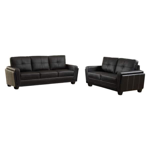 Wondrous Bedford Contemporary Black Tufted Sofa By Foa Pabps2019 Chair Design Images Pabps2019Com