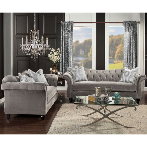 Shop Furniture Of America Agatha Traditional Tufted