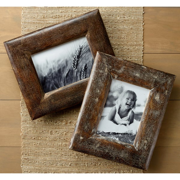 Shop Rustic Wood Frames Set Of 2 On Sale Free Shipping Today
