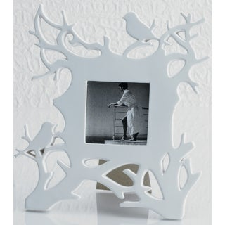 White Robins in Branches Photo Frame