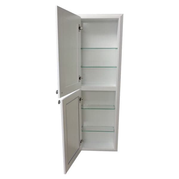 recessed bathroom cabinets for storage shop 48 inch recessed white plantation medicine storage 24031