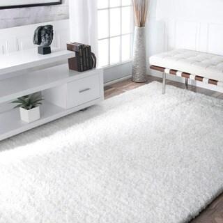 nuLOOM Handmade Solid Soft Plush Shag Rug (3' x 5')
