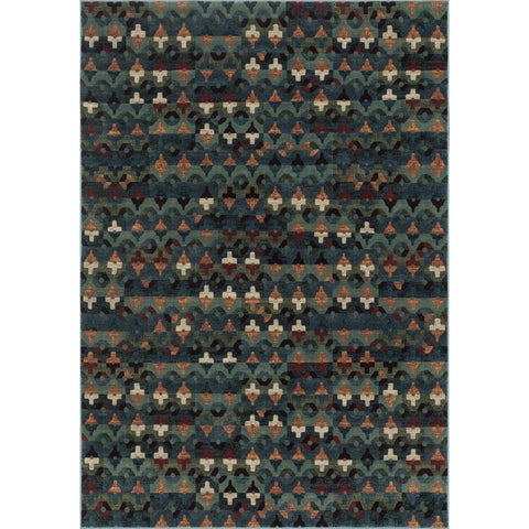 Senna Blue/ Multi Rug - 2'3 x 3'9