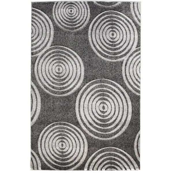 Linon Milan Collection Black/ Grey Area Rug (1'10 x 2'10)