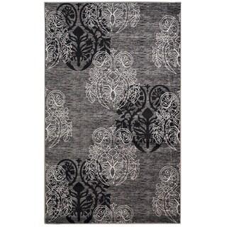 Linon Milan Collection Grey/ Black Area Rug (1'10 x 2'10)