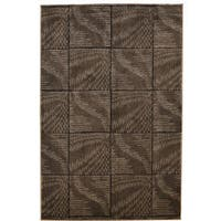 Linon Milan Collection Brown/ Beige Area Rug (1'10 x 2'10) - 1'10 x 2'10
