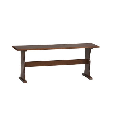 Linon Riki Dining Bench Dark Brown