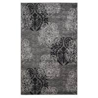 Linon Milan Collection Grey/ Back Area Rug (8' x 10'3) - 8' x 10'3