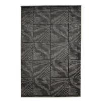 Linon Milan Collection Black/ Grey Abstract Area Rug - 8' x 10'3