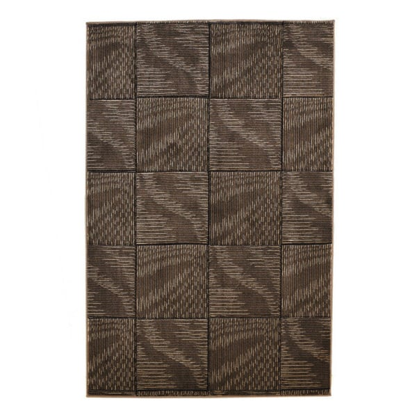 Linon Milan Collection Brown/ Beige Abstract Area Rug (8' x 10'3) - 8' x 10'3