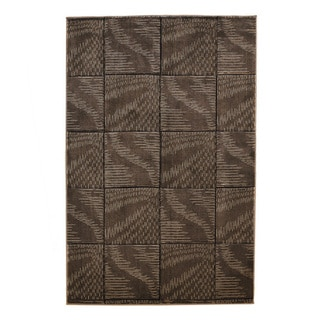 Linon Milan Collection Brown/ Beige Abstract Area Rug (8' x 10'3)