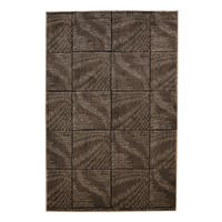 Linon Milan Collection Brown/ Beige Abstract Area Rug - 8' x 10'3