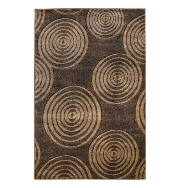 Linon Milan Collection Brown/ Beige Area Rug - 8' x 10'3
