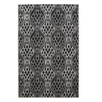 Linon Milan Collection Black/ Grey Area Rug (8' x 10'3) - 8' x 10'3