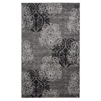 Linon Milan Collection Grey/ Black Area Rug (5' x 7'7) - 5' x 7'7