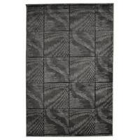 Linon Milan Collection Black/ Grey Abstract Area Rug - 5' x 7'7