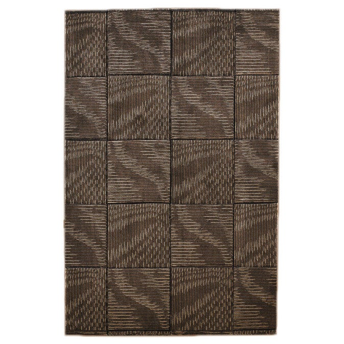 Linon Milan Collection Brown/ Beige Abstract Area Rug (5'...