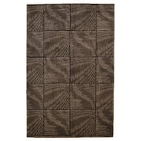 Linon Milan Collection Brown/ Beige Abstract Area Rug (5' x 7'7) - 5' x 7'7
