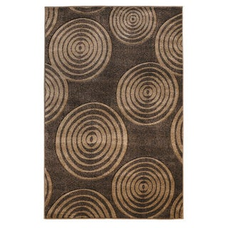 Linon Milan Collection Brown/ Beige Area Rug (5' x 7'7)