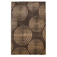 Linon Milan Collection Brown/ Beige Area Rug (5' x 7'7) - 5' x 7'7