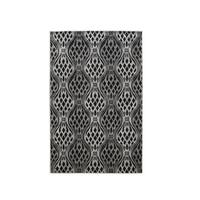 Linon Milan Collection Black/ Grey Area Rug - 5' x 7'7