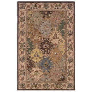 Linon Soumak Collection Accent Rug (Brown 4 x 6)