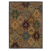 Linon Trio Traditional Ivory/ Multi Area Rug (8' x 10') - 8' x 10'