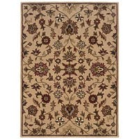 Linon Trio Traditional Gold Area Rug (8' x 10') - 8' x 10'