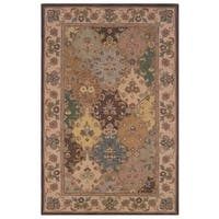 Linon Soumak Collection Brown/ Ivory Area Rug - 8' x 10'
