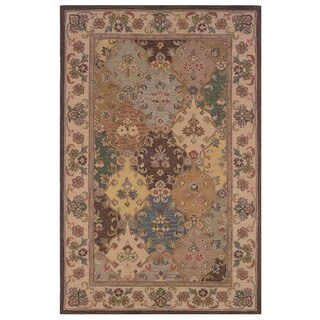 Linon Soumak Collection Brown and Ivory Area Rug (4' x 6')